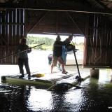 Muddring i båthus