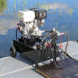 Hydraulaggregat med 13 hk motor