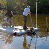 Muddring med hydrauldriven pump
