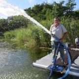 Pump med hydraulmotor