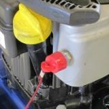 Nöstopp finns monterat på alla pumpar, anslut det till den som muddrar, sker en olycka så stannar motorn.
