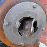 Pump som fått nytt pumphjul och ny tandkrans